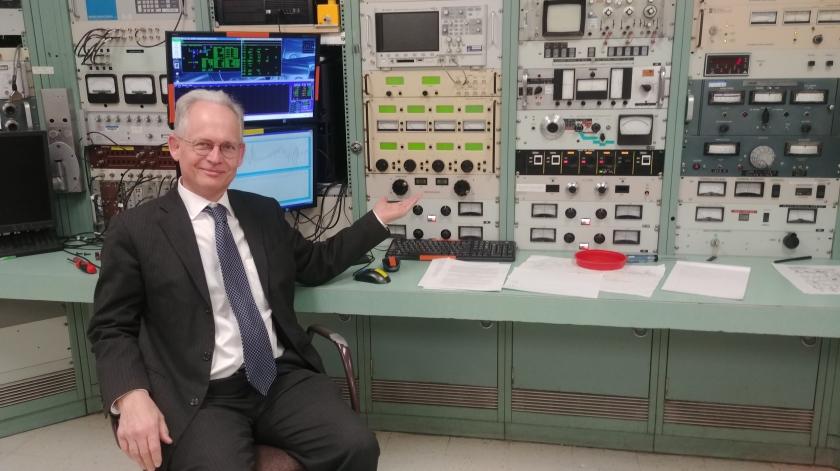 Bob at Notre Dame control room